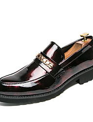 cheap -Men's Formal Shoes Microfiber Spring & Summer / Fall & Winter Business / Casual Loafers & Slip-Ons Breathable Black / Red