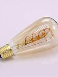 cheap -1pc ST64 Soft Filament Light 4W E27 300LM COB LED Filament Bulbs Decorative for home bar AC85-265V