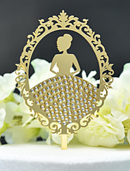 cheap -Cake Topper Classic Theme / Wedding Cut Out Acryic / Polyester Wedding / Birthday with Acrylic 1 pcs PVC Bag