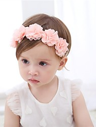 cheap -Toddler Girls' Active Solid Colored / Floral Chiffon Hair Accessories Pink One-Size