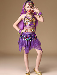 cheap -Belly Dance Hair Jewelry Copper Coin Bandage Tiered Girls' Performance Sleeveless Dropped Spandex