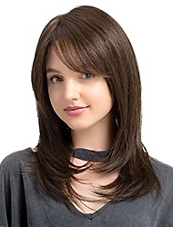 cheap -Virgin Human Hair Lace Front Wig Bob style Brazilian Hair Natural Black Wig 130% Density with Baby Hair Natural Hairline Women's Short Human Hair Lace Wig PERFE