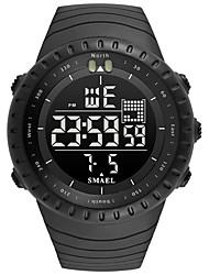 Недорогие -SMAEL Муж. Спортивные часы электронные часы Японский Японский кварц Стеганная ПУ кожа Черный / Тёмно-зелёный 50 m Защита от влаги Календарь Хронометр Аналого-цифровые На каждый день Мода -