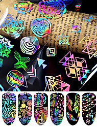 cheap -8 pcs 3D Nail Stickers Star nail art Manicure Pedicure Best Quality Fashion / Colorful Daily / Festival