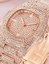 cheap -Men's Wrist Watch Diamond Watch Quartz Pave Luxury Calendar / date / day Analog Rose Gold Gold Silver