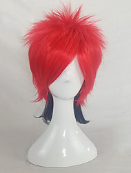 cheap -Synthetic Wig Cosplay Wig Straight Pixie Cut Wig Short Black / Red Synthetic Hair 14 inch Women's Cosplay Adjustable Heat Resistant Red hairjoy