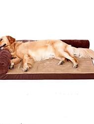 cheap -Dog Pets Bed Sofa Cushion Lounge Sofa Warm Washable Cartoon Pet Mats & Pads Oxford Cloth Solid Colored Brown