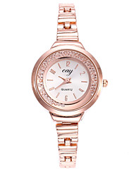 cheap -Women's Wrist Watch Diamond Watch Quartz Gold Casual Watch Analog Ladies Fashion Minimalist - Golden