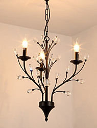 cheap -JLYLITE 3-Light 54 cm Mini Style Chandelier Metal Painted Finishes Retro / Traditional / Classic 110-120V / 220-240V