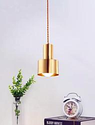 cheap -1-Light 12 cm Pendant Light Metal Mini Brass LED Modern 110-120V 220-240V
