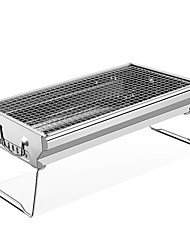 cheap -TANXIANZHE® Camping Grill Non Toxic Lightweight Breathability Heat Retaining Heat-Insulated Stainless Steel for 3 - 4 person Outdoor Beach Camping Silver