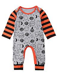 cheap -Baby Boys' Basic Print / Halloween Long Sleeve Romper Gray / Toddler