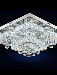 cheap -UMEI™ Circular / Crystal / Geometric Flush Mount Ambient Light Electroplated Metal Crystal, Adjustable, Dimmable 110-120V / 220-240V Warm White / White LED Light Source Included / LED Integrated