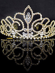 cheap -Alloy Tiaras with Crystals 1 Piece Wedding / Special Occasion Headpiece