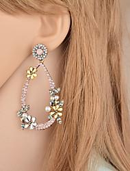 cheap -Women's Retro Stylish Drop Earrings - Rhinestone Boho, Folk Style Black / Pink For Gift Daily
