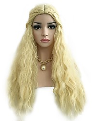 cheap -Synthetic Wig Wavy Bob Wig Blonde Long Blonde Synthetic Hair 30 inch Women's Party Classic Women Blonde