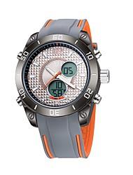 Недорогие -ASJ Муж. Спортивные часы электронные часы Японский Кварцевый силиконовый Синий / Оранжевый 30 m Защита от влаги Календарь Секундомер Аналого-цифровые На каждый день Мода - Оранжевый Синий