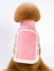 cheap -Dogs Cats Coat Jacket Winter Dog Clothes Brown Pink Costume Pug Bichon Frise Schnauzer Faux Fur Polar Fleece Solid Colored Warm Ups British S M L XL XXL