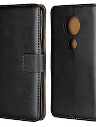 cheap -Case For Motorola Moto Z2 play / Moto X4 / MOTO G6 Wallet / Card Holder / with Stand Full Body Cases Solid Colored Hard Genuine Leather
