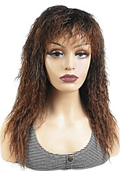cheap -Synthetic Wig Curly Layered Haircut Wig Long Dark Brown / Medium Auburn Dark Brown Synthetic Hair 20 inch Women's Synthetic Black Brown