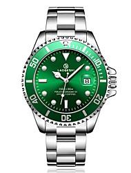 cheap -Men's Dress Watch Mechanical Watch Japanese Quartz Stainless Steel Black / Silver 100 m Water Resistant / Waterproof Calendar / date / day Noctilucent Analog Luxury Classic Fashion - Green Blue Golden