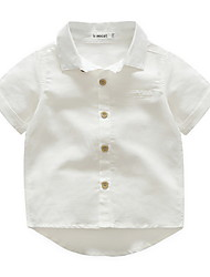 cheap -Kids Boys' Basic Solid Colored Long Sleeve Regular Blouse White