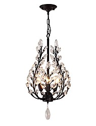 cheap -JLYLITE 4-Light 36 cm Mini Style Chandelier Metal Crystal Painted Finishes Retro / Traditional / Classic 110-120V / 220-240V
