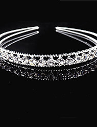 cheap -Alloy Hair Accessory with Crystals 1 Piece Wedding / Special Occasion Headpiece