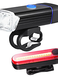 cheap -LED Bike Light Rechargeable Bike Light Set Rear Bike Tail Light Safety Light XP-G2 Mountain Bike MTB Bicycle Cycling Waterproof Portable Quick Release Lightweight Li-polymer 350 lm Rechargeable / ABS