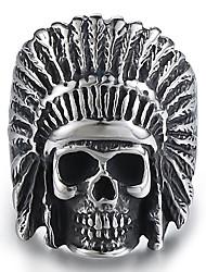 cheap -Ring Vintage Style Silver Titanium Steel Skull Feather Stylish Vintage Punk 1pc 9 10 11 12 / Men's