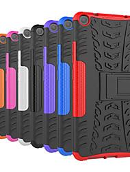 Недорогие -Кейс для Назначение Lenovo Lenovo Tab3 7 Защита от удара / со стендом Кейс на заднюю панель Плитка / броня Твердый ПК