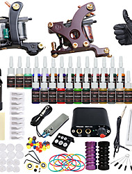 cheap -Solong Tattoo Tattoo Machine Starter Kit - 2 pcs Tattoo Machines with 28 x 5 ml tattoo inks, Professional Mini power supply Case Not Included 2 alloy machine liner & shader