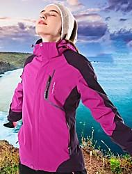 cheap -Women's Hiking 3-in-1 Jackets Winter Outdoor Waterproof Windproof Breathable Rain Waterproof 3-in-1 Jacket Winter Jacket Waterproof Camping / Hiking Hunting Ski / Snowboard Purple / Ivory / Fuchsia