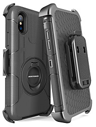 cheap -BENTOBEN Case For Apple iPhone X / iPhone XS Shockproof / Dustproof / with Stand Full Body Cases Solid Colored / Armor Hard PC / Silica Gel for iPhone XS / iPhone X