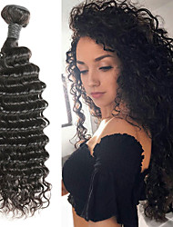 cheap -1 Bundle Indian Hair Deep Wave Remy Human Hair Human Hair Extensions 8-30 inch Human Hair Weaves Soft Best Quality New Arrival Human Hair Extensions / 10A