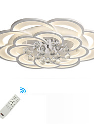cheap -1-Light 80 cm Crystal Flush Mount Lights Metal Acrylic Novelty Painted Finishes Artistic Modern 110-120V 220-240V FCC