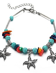 cheap -Women's Pendant Bracelet Retro Starfish Ladies Tropical Boho Hawaii Jewelry Stone Bracelet Jewelry Silver For Office & Career Festival