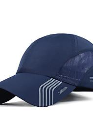 cheap -Men's Basic Polyester Baseball Cap-Striped Dark Gray Navy Blue Light gray