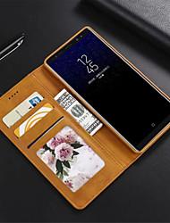Недорогие -Кейс для Назначение SSamsung Galaxy Note 9 / Note 8 Игровой случай Чехол Однотонный Твердый Кожа PU для Note 9 / Note 8