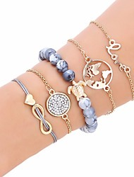 cheap -Women's Friendship Bracelet Beads Maps Turtle Ladies Ethnic Fashion Chrome Bracelet Jewelry Gold For Birthday Gift