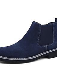 cheap -Men's Suede Shoes Suede Winter / Fall & Winter Business / Casual Boots Breathable Black / Blue / Gray / Office & Career / Fashion Boots