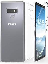 Недорогие -Кейс для Назначение SSamsung Galaxy Note 9 / Note 8 / Note 5 Прозрачный Чехол Однотонный Мягкий ТПУ