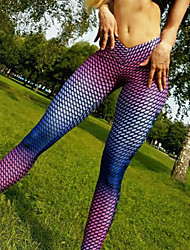 cheap -Women's High Waist Yoga Pants Leggings Butt Lift Breathable Rainbow Zumba Running Workout Sports Activewear High Elasticity Slim