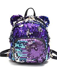 cheap -PU Zipper Commuter Backpack Outdoor Blue / Black / Girls'