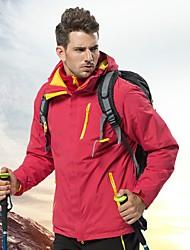cheap -Men's Hoodie Jacket Hiking Jacket Hiking Fleece Jacket Winter Outdoor Thermal / Warm Waterproof Windproof Breathable 3-in-1 Jacket Top Single Slider Camping / Hiking Ski / Snowboard Camping / Hiking