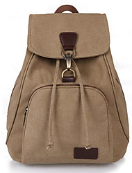cheap -School Bag Women's Canvas Solid Solid Color Daily / Outdoor Black / Blue / Khaki / Coffee