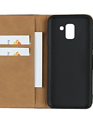 cheap -Case For Samsung Galaxy J7 (2017) / J7 (2016) / J7 Wallet / Card Holder / with Stand Full Body Cases Solid Colored Hard Genuine Leather