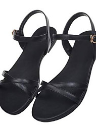 cheap -Women's Sandals Low Heel Nappa Leather Summer Black / Camel / White