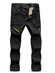 cheap -Men's Hiking Pants Trousers Softshell Pants Winter Outdoor Waterproof Windproof Rain Waterproof Detachable Fleece Fleece Wool Flannel Pants / Trousers Bottoms Dark Grey Army Green Black Camping
