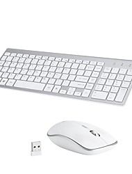 cheap -MODAO E1808 Wireless 2.4GHz Mouse Keyboard Combo Portable / DPI Adjustable Office Keyboard / Membrane Keyboard Quiet Office Mouse 800/1200/1600 dpi